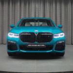 BMWアブダビが「アトランティスブルー」のカスタム7シリーズを公開。巨大キドニーグリルはブラック仕上げ