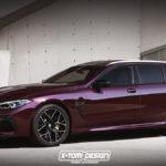 BMWがM8ツーリングワゴンを発表したら?というレンダリング。メルセデス・ベンツCLSへの対抗はある?
