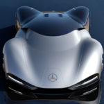 2040年のメルセデス・ベンツ製レーシングカー、ヴィジョン・マンティラ・コンセプト。ル・マン参戦を意識したピュアエレクトリックレーサー