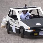 一体何なのこの動画!無動力カートによる下り坂レースにとうふ屋ハチロクが登場。おそらくは4WSを備えたダウンヒル専用マシン