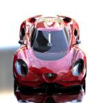 ちょっと「おしりたんてい」っぽい!トヨタの現役デザイナーの考えた「新型アルファロメオ4C」が話題に