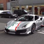 【動画】ロンドン納車第一号のフェラーリF8とピロティフェラーリ!最新フェラーリはメタリックカラーがよく似合うようだ