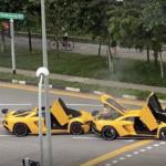 【動画】なんとシンガポールにてアヴェンタドールS同士の事故が発生!現地価格は1台あたり1億円ほどと言われ、合計2億円のクラッシュに・・・
