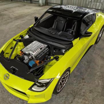 新型フェアレディZにV8エンジンを スワップしたレンダリング