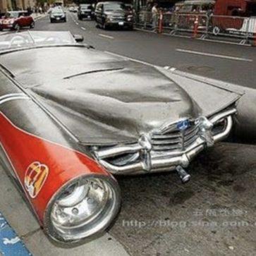 ヘッドライトの大きなカスタムカー