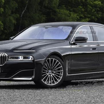 新型BMW 7シリーズの予想レンダリング