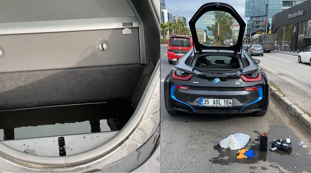 BMW i8が雨漏りにてトラブル