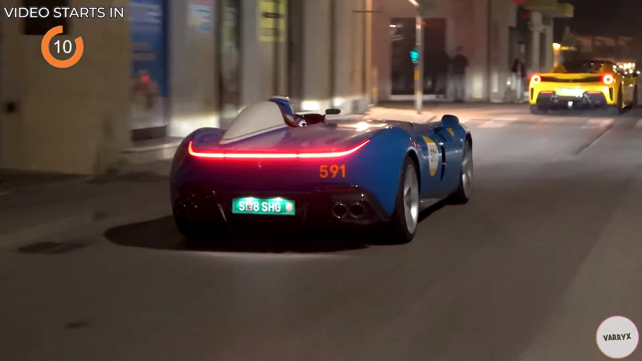 フェラーリのイベントにて、モンツァSP1