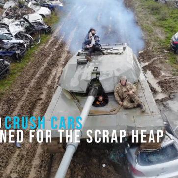 破壊セラピーに使用される戦車