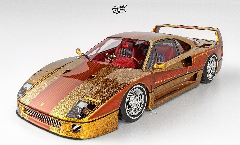 フェラーリF40のローライダー風カスタム