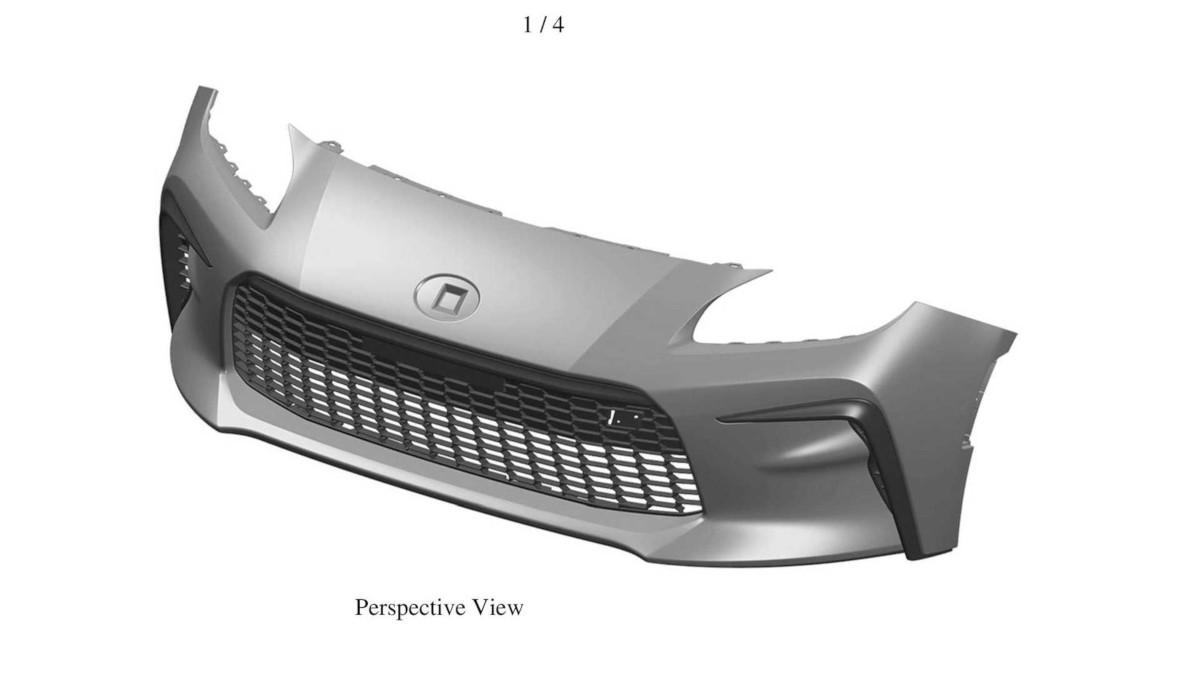 新型GRトヨタ86もしくはスバルBRZのフロントバンパー(特許画像)