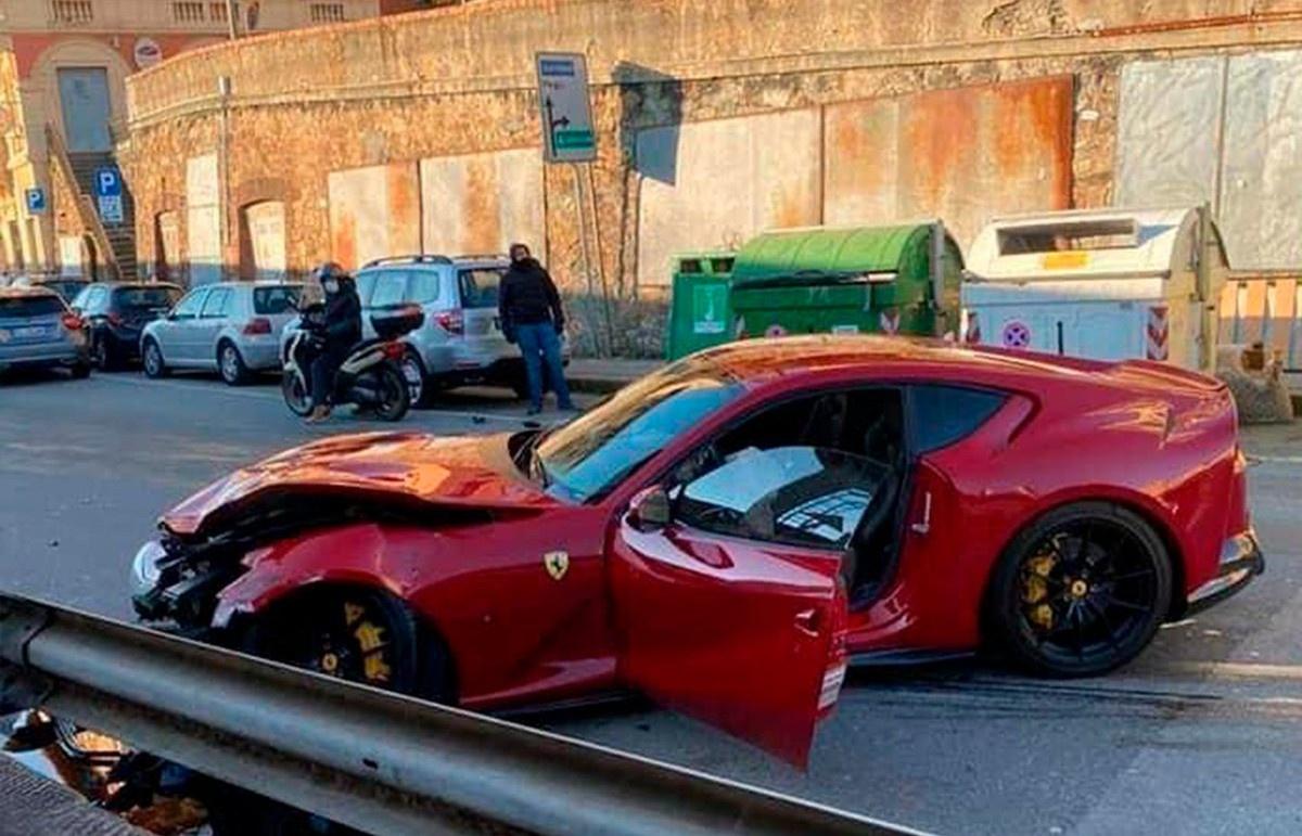 フェデリコ・マルケッティ選手のフェラーリ812スーパーファストがクラッシュ