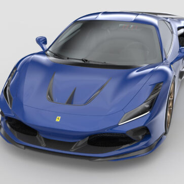 フェラーリF8トリブート向けに3Dプリンタ製のカスタムカーボンパーツ登場