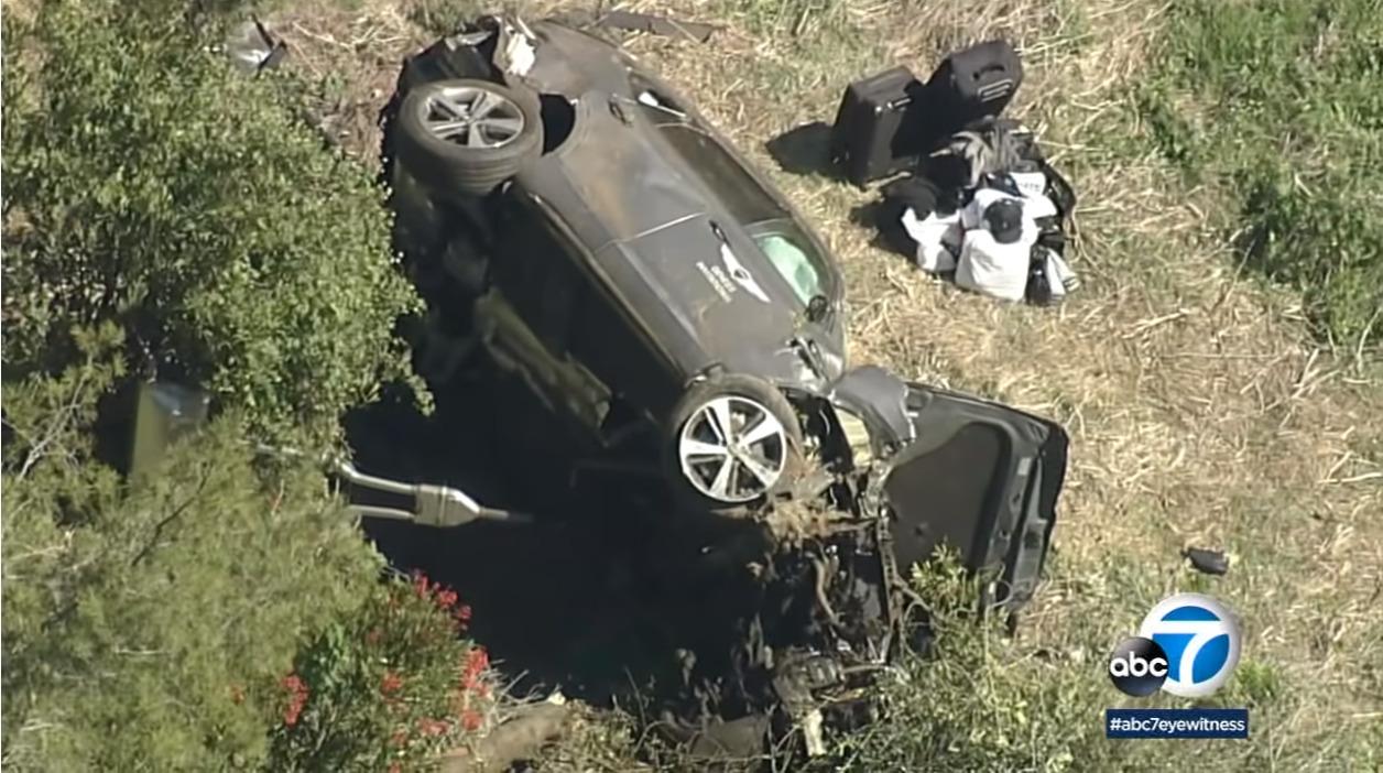 タイガー・ウッズがLAにて自動車事故
