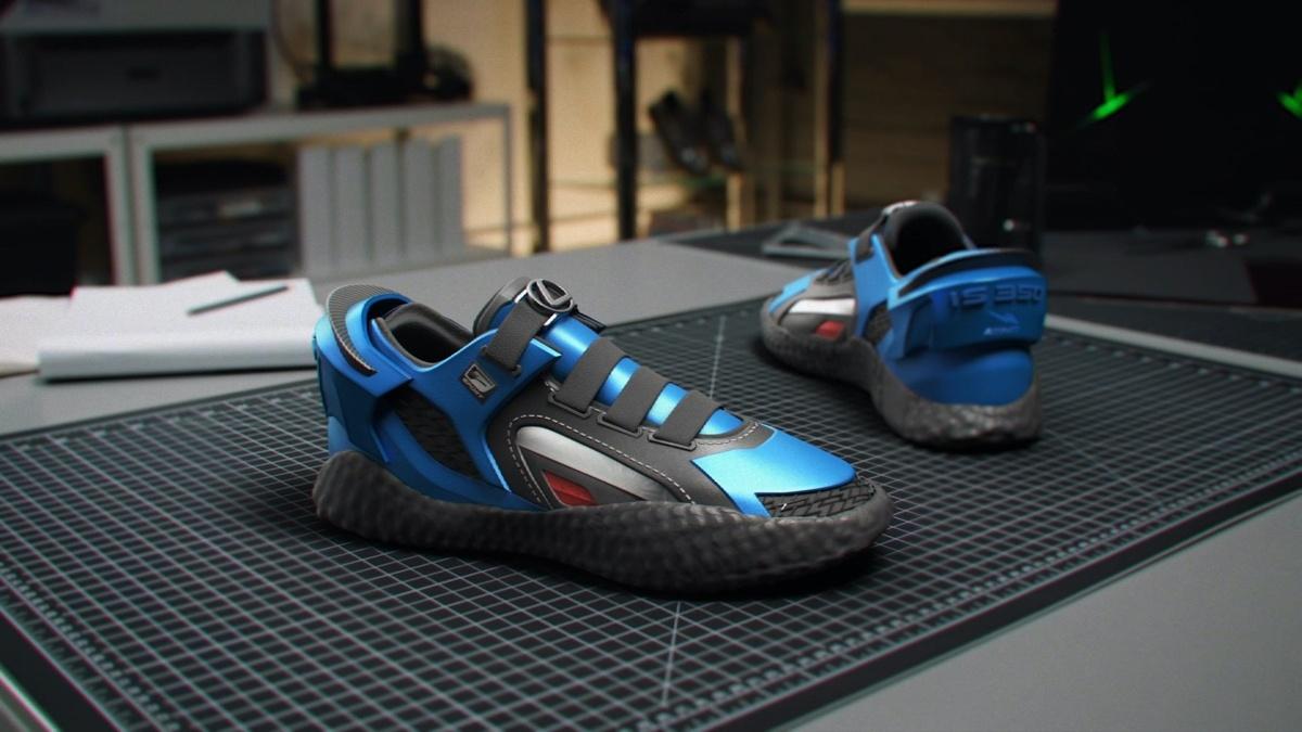 レクサスがIS350をイメージしたスニーカーを発表