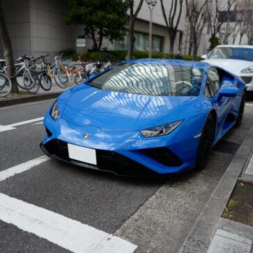 神戸・三宮にてランボルギーニ・ウラカンEVO RWD