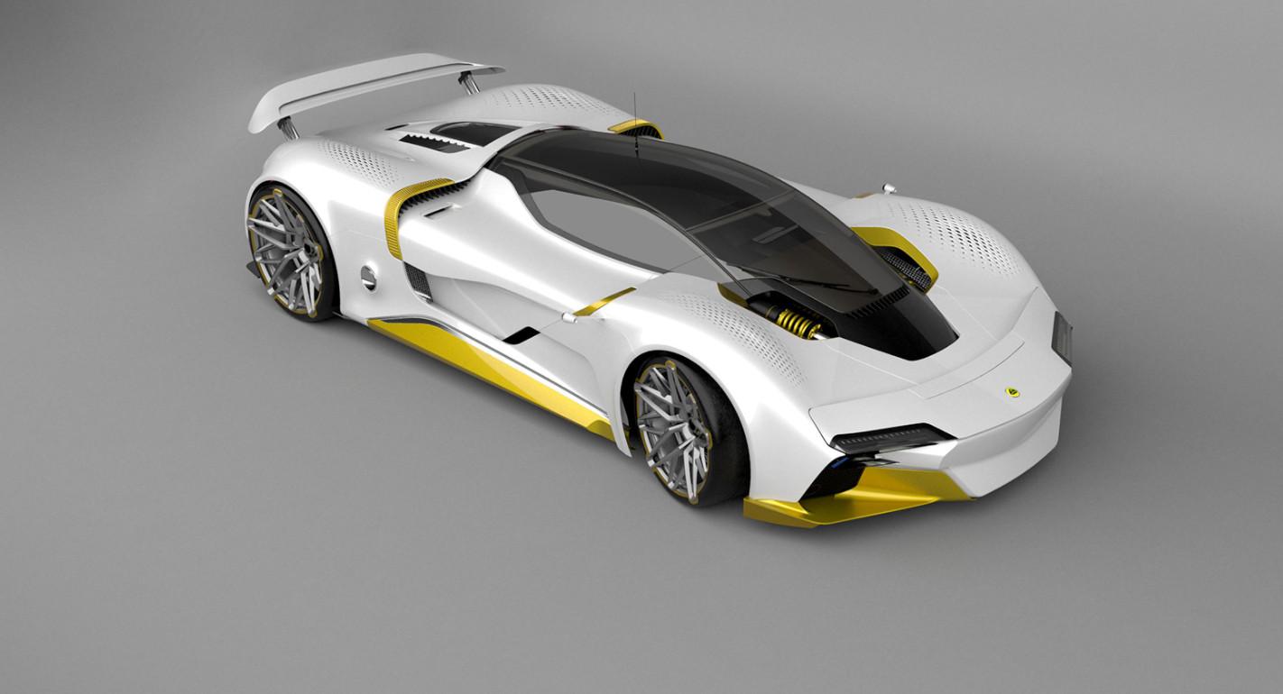 ロータスの新型スーパーカー(予想レンダリング)