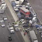 アメリカ・テキサスにて120台が絡む事故