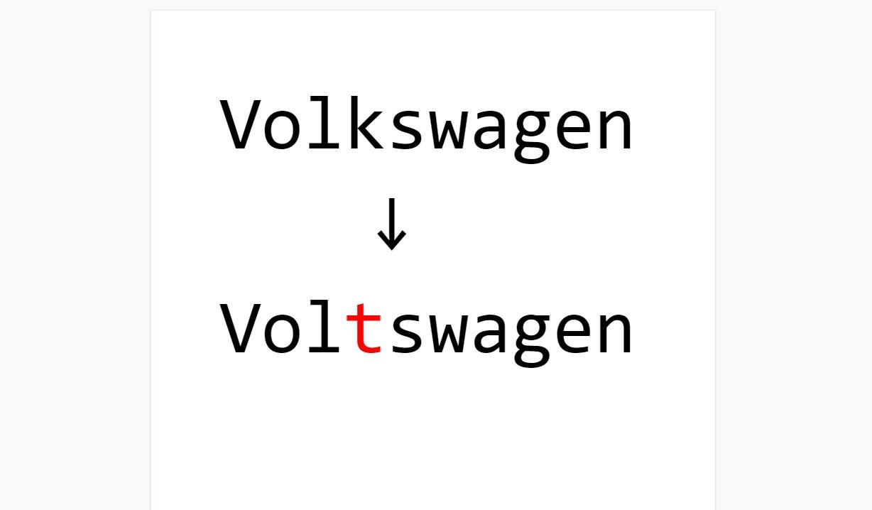 VWが電動化にあわせ社名を「フォルクスワーゲン」から「ボルツワーゲン」に変更するらしい