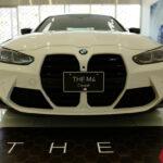 新型BMW M4を見てきた!前後ブリスターフェンダーは大迫力、マフラー(タイコ)までエアロ形状