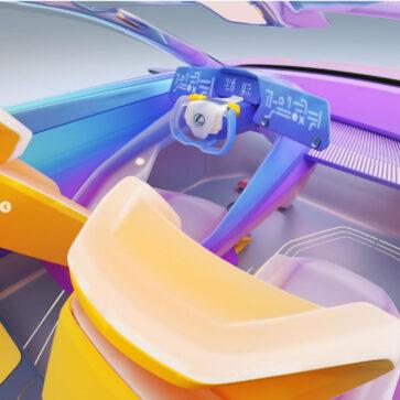 レクサスがスニーカーデザイナーらとのコラボにて、LF-Zの内装を「ポップでアーティスティック」に