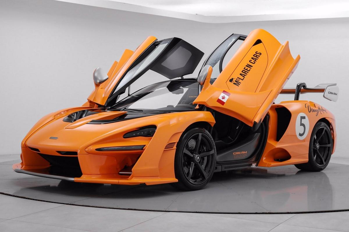 製造されたのはわずか3台、ほぼ未走行のマクラーレン・セナ・カンナム(Can-AM)が売りに出される