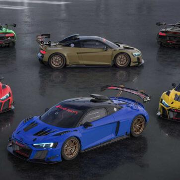 アウディが「レーシングカーなのにカラフルな」R8 LMS GT2カラーエディション発表