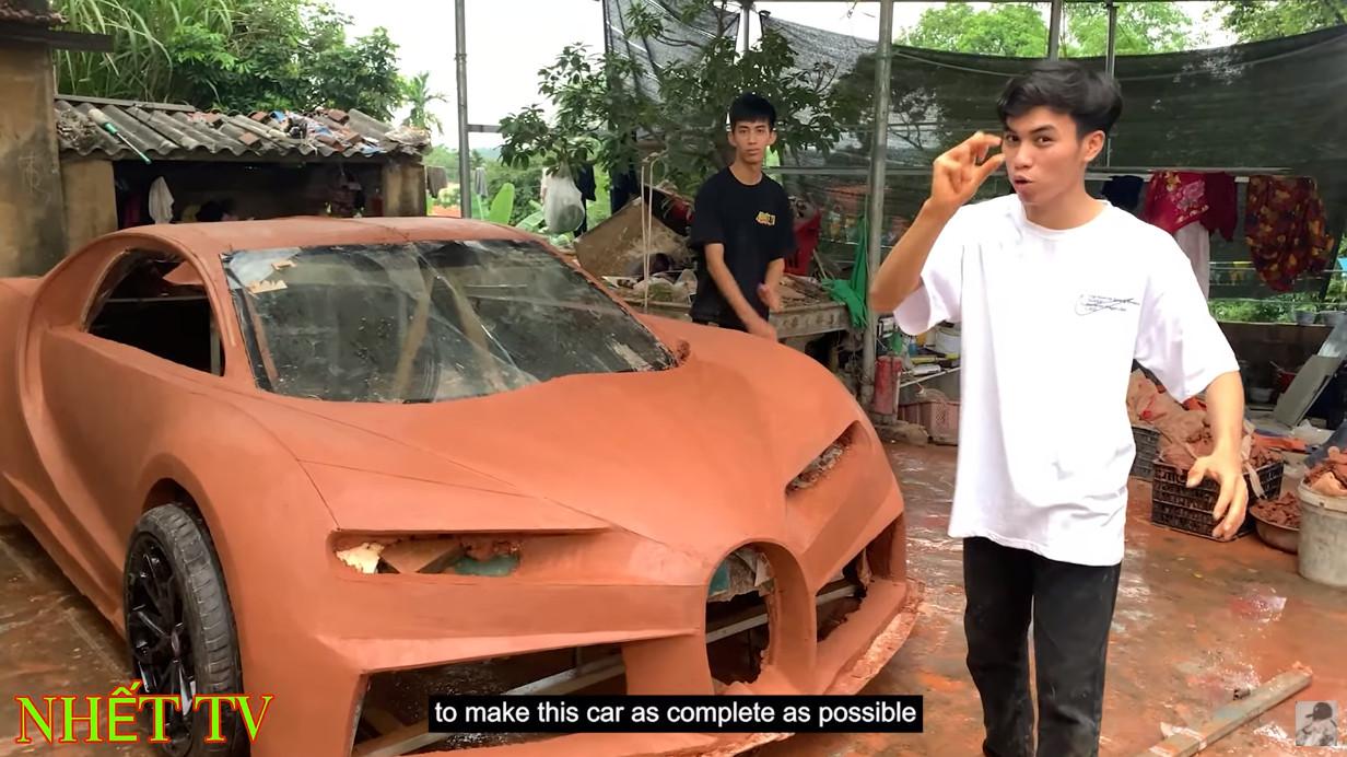 今度は粘土!ベトナムの片田舎にて、精巧なブガッティ・シロンのクレイモデルを作った男たち