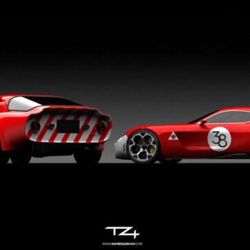 アルファロメオTZシリーズ最新モデル「TZ4」のレンダリング