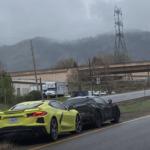 ハイブリッド版新型コルベット「グランスポーツ(E-Ray)」試作車が目撃