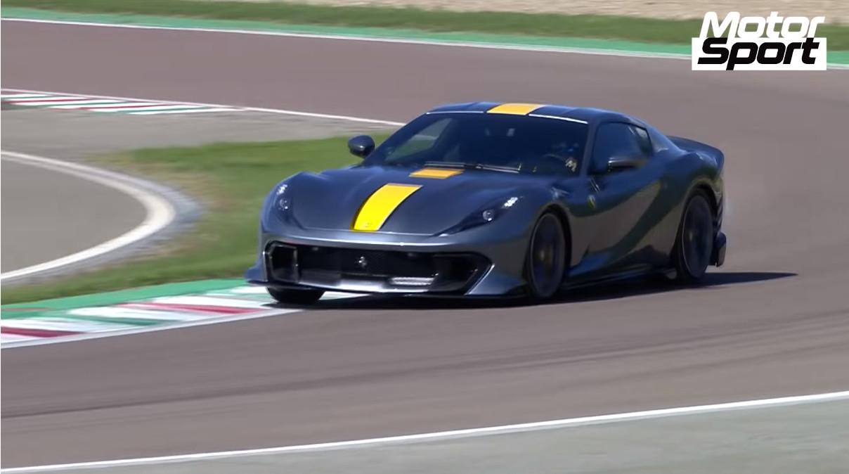 さっそくフェラーリ812コンペティツィーネがサーキットを走る