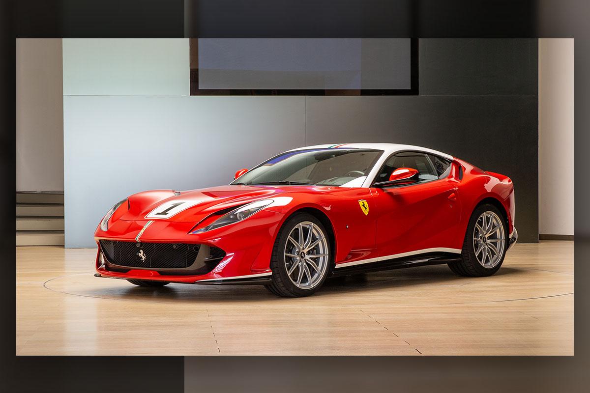 フェラーリが2007年にタイトルを獲得したF1マシンをイメージしたワンオフ仕様の812スーパーファストを公開
