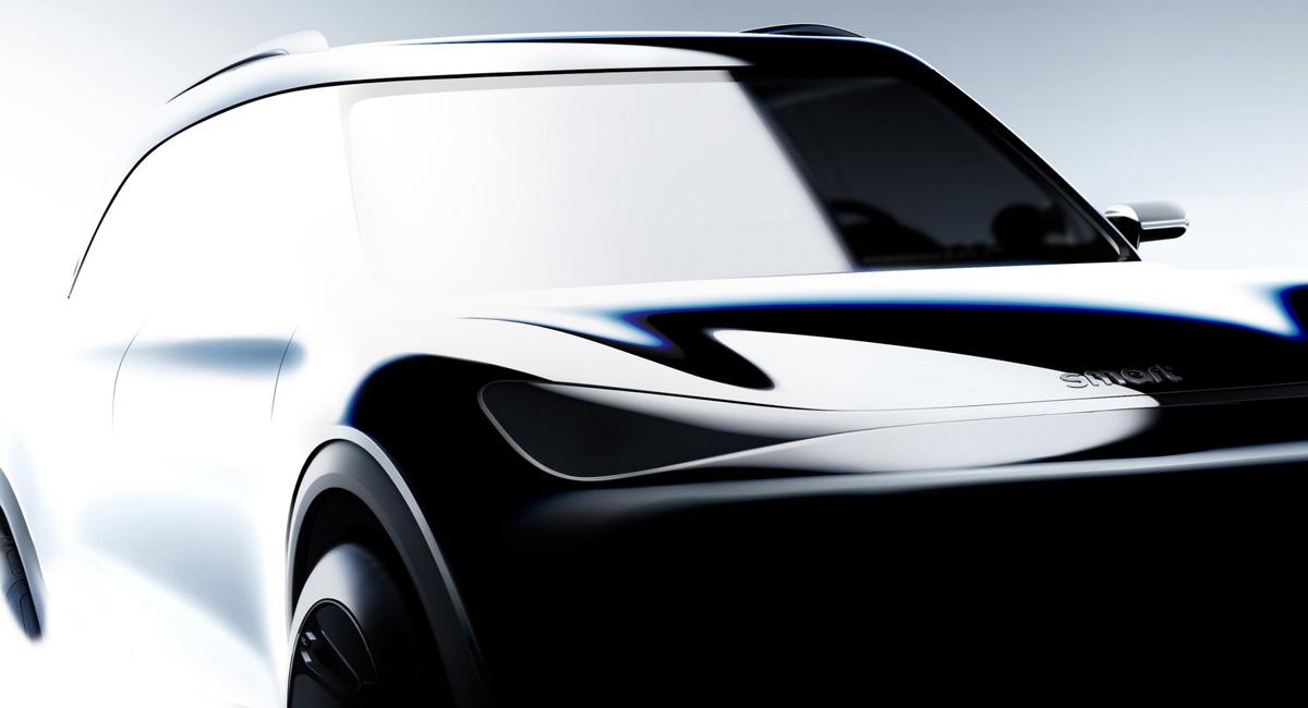 現行スマートとは関連性のないデザインを持つ5人乗り電動SUVのティーザー