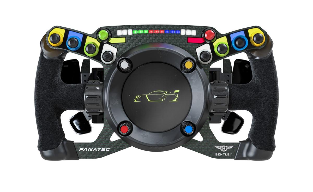 FANATECがベントレーのレーシングカーとシミュレーター「兼用」で使用できるハンドルコントローラーを発売