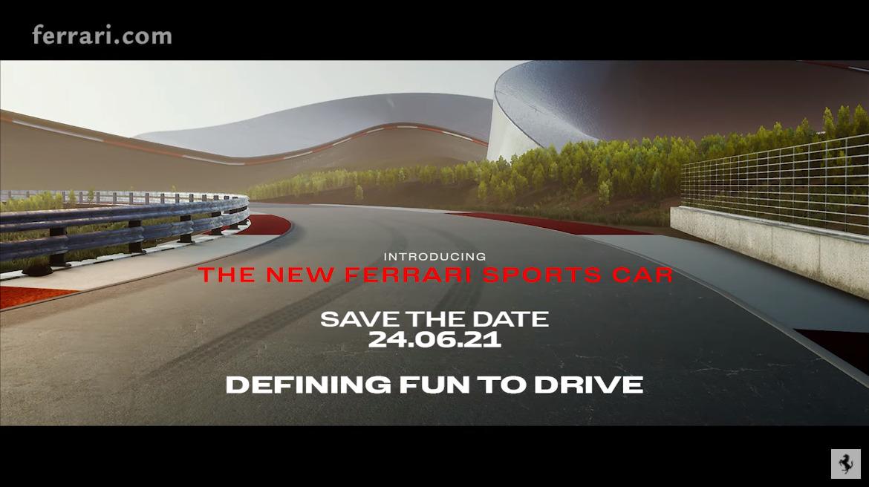 フェラーリが6月24日に「V6+ハイブリッド」を持つ新型車を発表すると予告