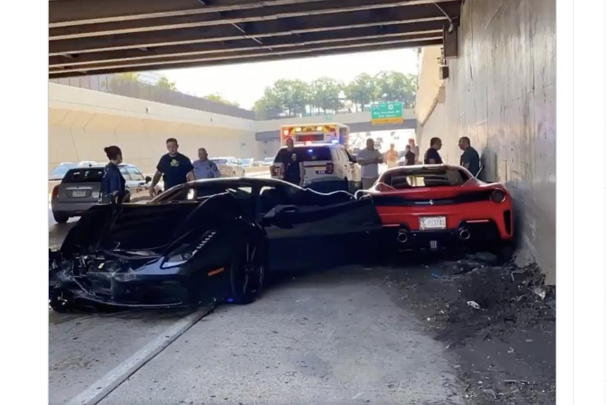 事故総額1億円以上?チャリティーイベントにてフェラーリ3台が絡む事故が発生