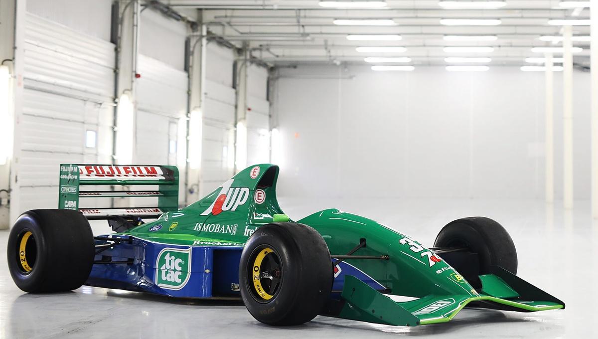 「シューマッハが初めてF1に参戦したときに乗ったマシン」、ジョーダン191フォード・コスワースHBが中古市場に