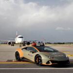 ランボルギーニがボローニャ空港内の「働くクルマ」としてウラカンEVOを提供