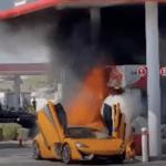 またしてもマクラーレンが給油中に炎上!給油口側のリアが完全に消失する