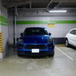 エントリーモデルといえどマカンもやはりポルシェ!ヒルトン大阪にて「高級車専用区画」に案内してくれた