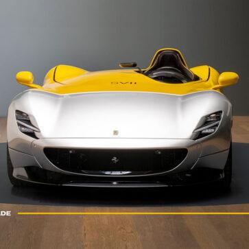 まるで戦闘機のようだ!フェラーリのエンブレムの由来となった「バラッカ伯爵機」っぽいカラーリングのモンツァSP1が公開