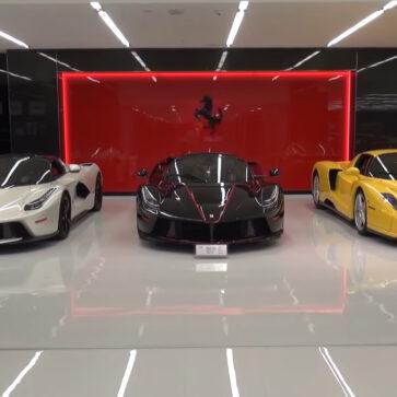 「フェラーリ部屋」「ポルシェ部屋」のあるプライベートガレージがスゴい!考えうる限りの限定モデルがここには存在するようだ・・・