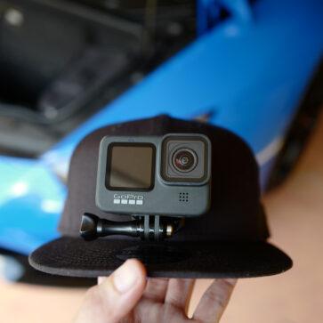 ボクはこうやって運転中の動画を撮っている。その撮影に使用するデバイス(キャップ)をVer.1からVer.2へ