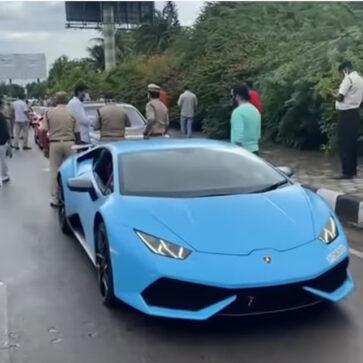 インドにて密告を受け「税金を逃れようとした」スーパーカーオーナー一斉検挙!ランボルギーニ、フェラーリなど11台がイベント帰りに押収される