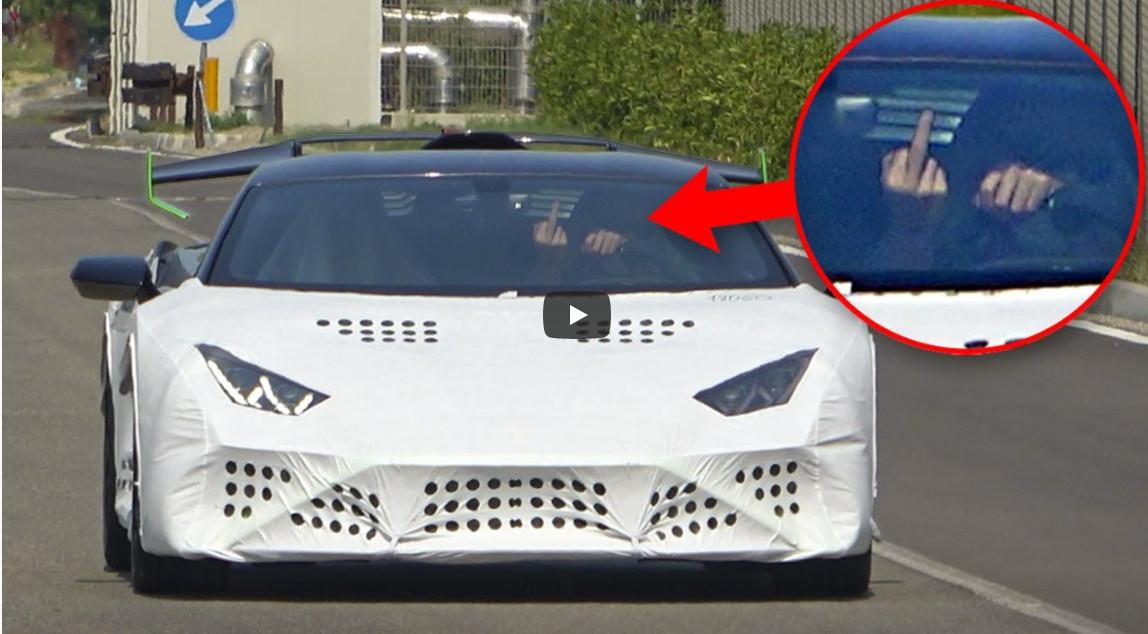 ランボルギーニ・ウラカンのテスト車両