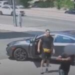 コンビニに駐車中の車を盗んだら、UFC格闘家のオーナーが出てきた!パンチと膝蹴りをくらってしまった車泥棒が一目散に逃げる