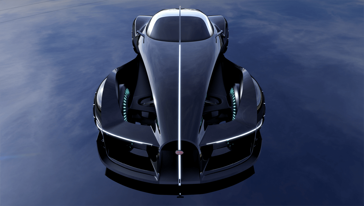 「世界一美しいクルマ」、ブガッティ・タイプ57SCアトランティークの「100周年記念モデル、ブガッティ100オマージュが公開。デザイナーの夢を乗せた2036年モデル