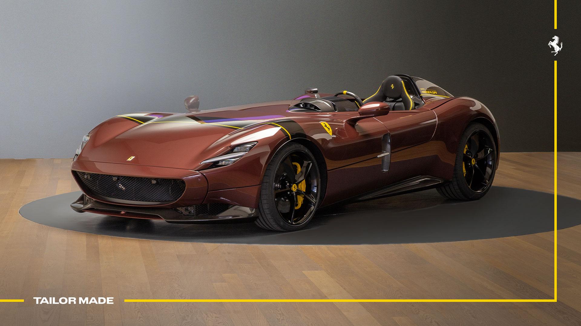 フェラーリがあまりにオシャレな「ブラウン」のモンツァSP1を公開!なぜモンツァのオーナーにはカスタム上級者が多いのか