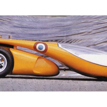 え?これがクルマ?1970年に1台のみが製作された「ランボルギーニ・ミウラ・ル・マン・コンセプト」。ミウラを前後半分にぶった切ったトンデモカー