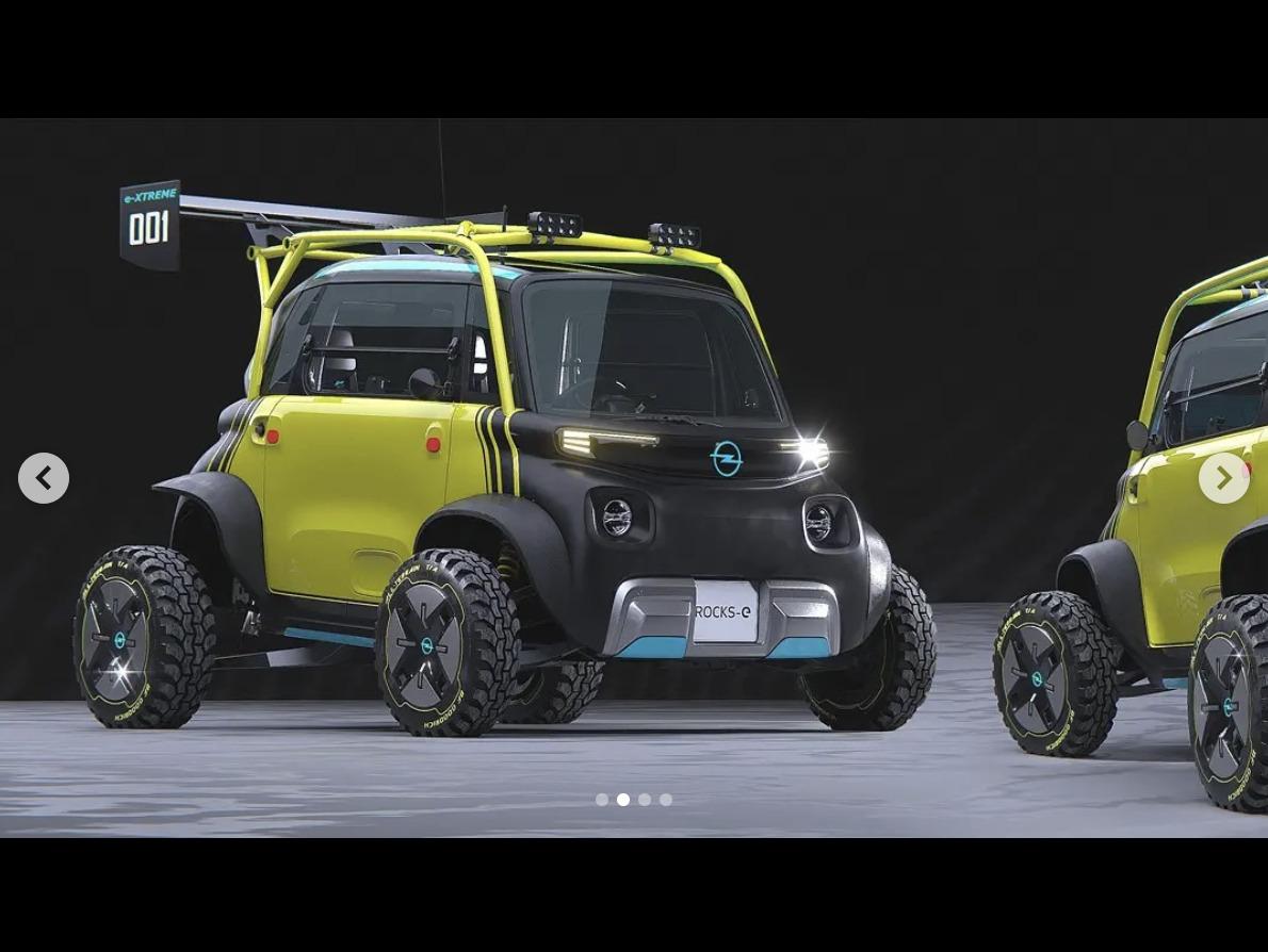 ドイツでは15歳から乗れるマイクロEV「オペルRocks-e」の超ハードコア版レンダリングが登場!タミヤのRCカーのようなルックスで縦横無尽に走り回る